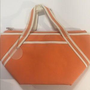 Handbags - [Lunch Bag] tote orange clean